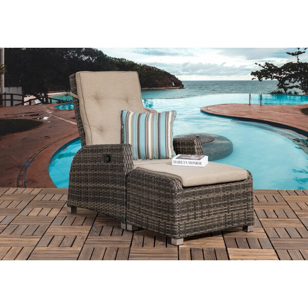 Worrell Outdoor Patio Chair with Cushion (Set of 2) by Highland Dunes