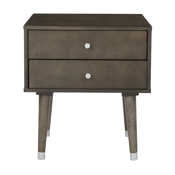 Yearby 2 Drawer End Table by George Oliver