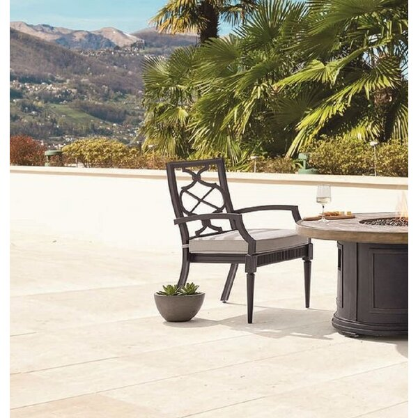Euston Patio Dining Chair with Cushion (Set of 2) by Canora Grey