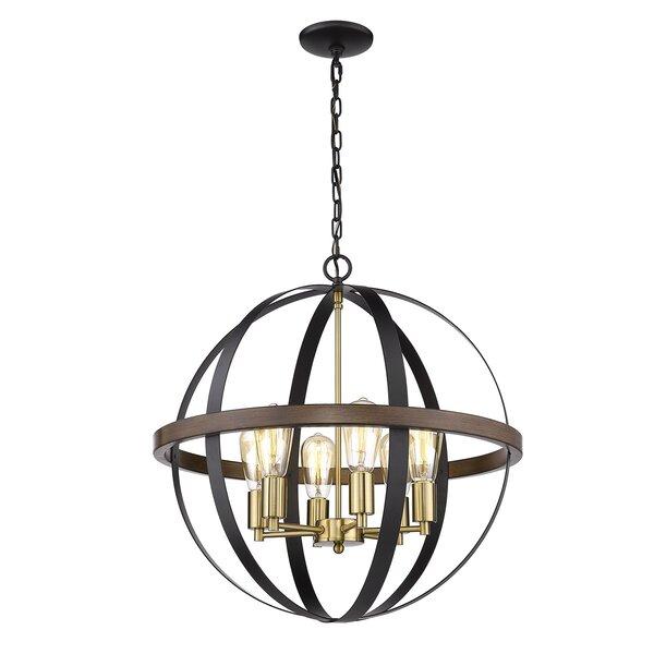 Jarrod 6-Light Candle Style Globe Chandelier By Breakwater Bay