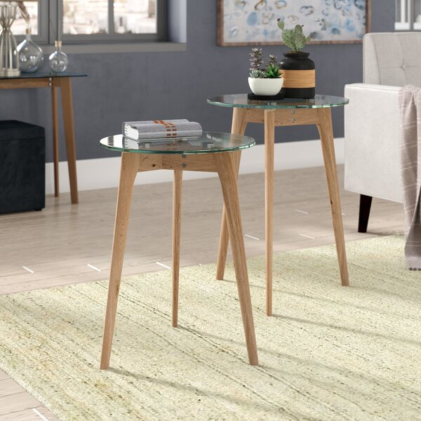 Courtlyn 2 Piece Nesting Tables by Ebern Designs Ebern Designs