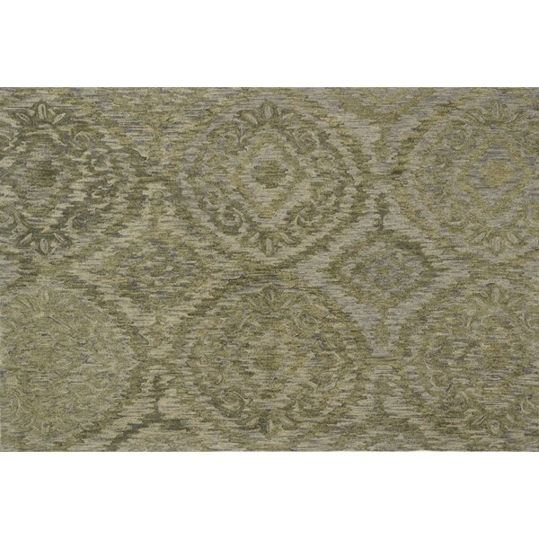 Cherrelle Hand-Hooked Wool Sage Area Rug  by Darby Home Co