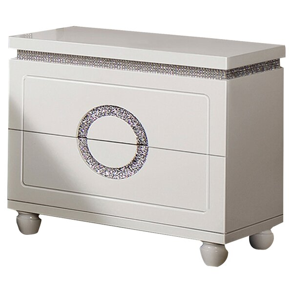 Rawles 2 Drawer Nightstand by Rosdorf Park