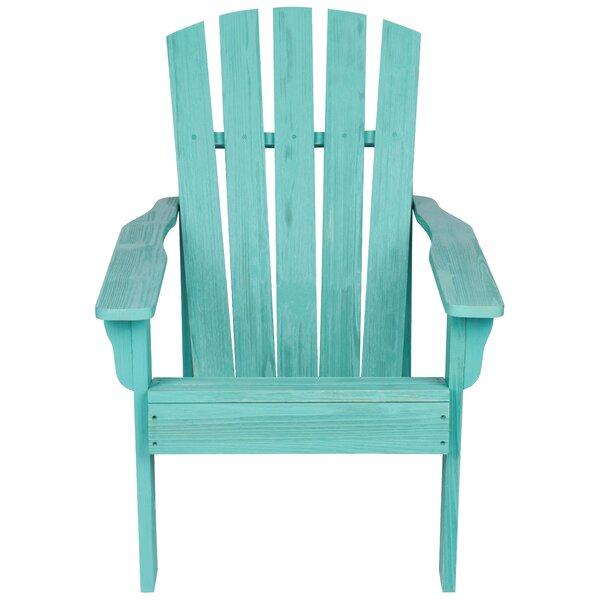 Kristen Wood Adirondack Chair by Highland Dunes Highland Dunes