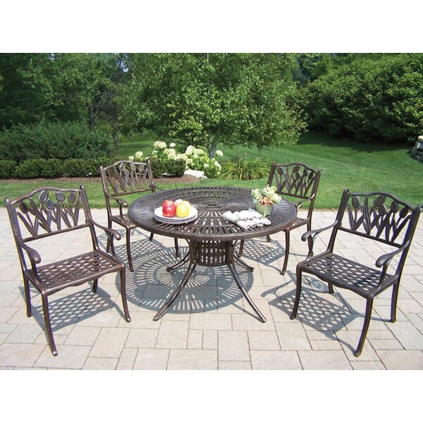 Sunray Tulip 5 Piece Dining Set by Oakland Living