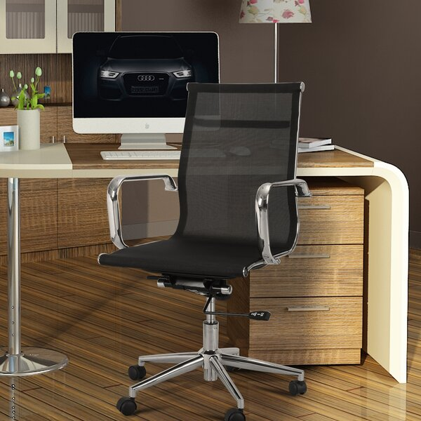 Mid-Back Mesh Desk Chair by Adeco Trading