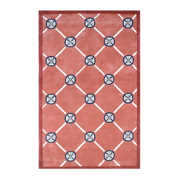 Beach Rug Peach Compass Novelty Rug by American Home Rug Co.