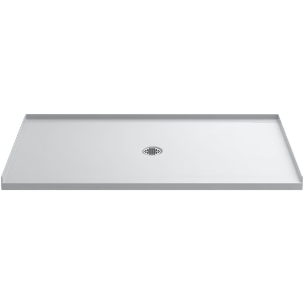 Ballast 66 x 36 Shower Base with Center Drain by Kohler