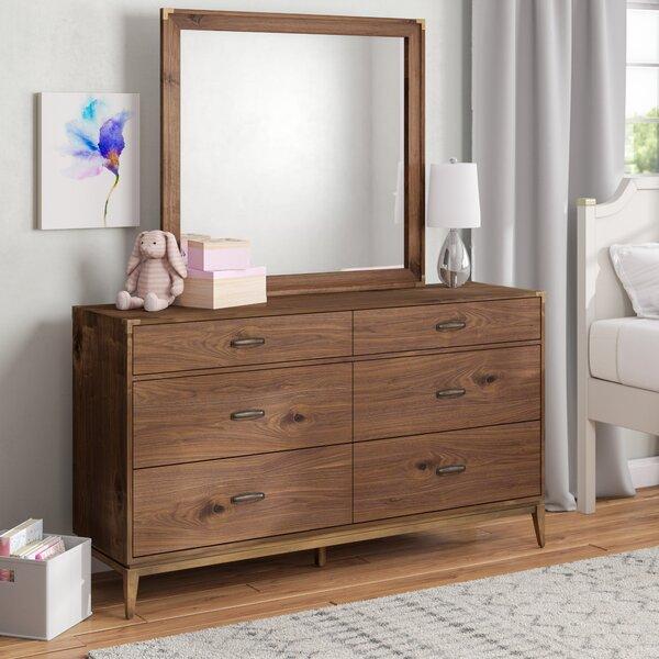 Huntsville 6 Drawer Double Dresser with Mirror by Greyleigh