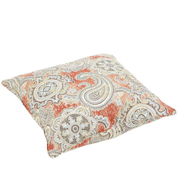 Lebaron Paisley Indoor/Outdoor Floor Pillow by Three Posts
