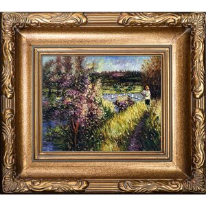 The Seine at Chatou by Pierre-Auguste Renoir Framed Painting Print by La Pastiche