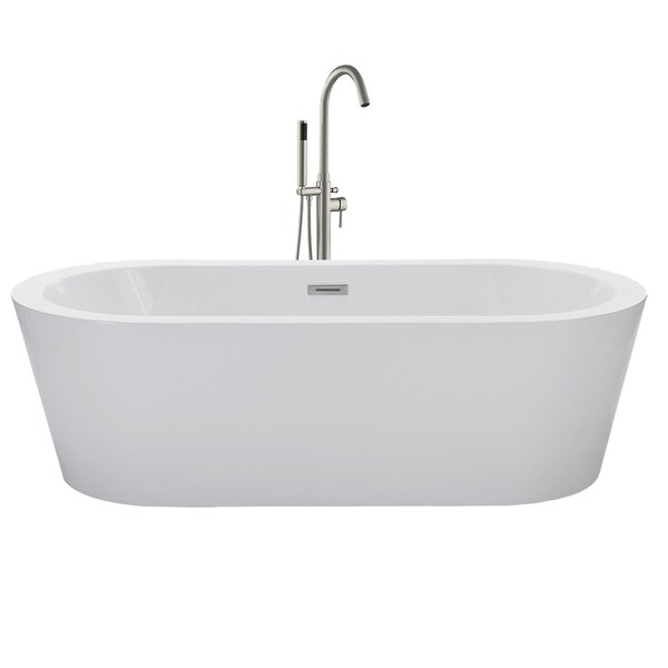 67 x 32 Freestanding Soaking Bathtub by WoodBridge