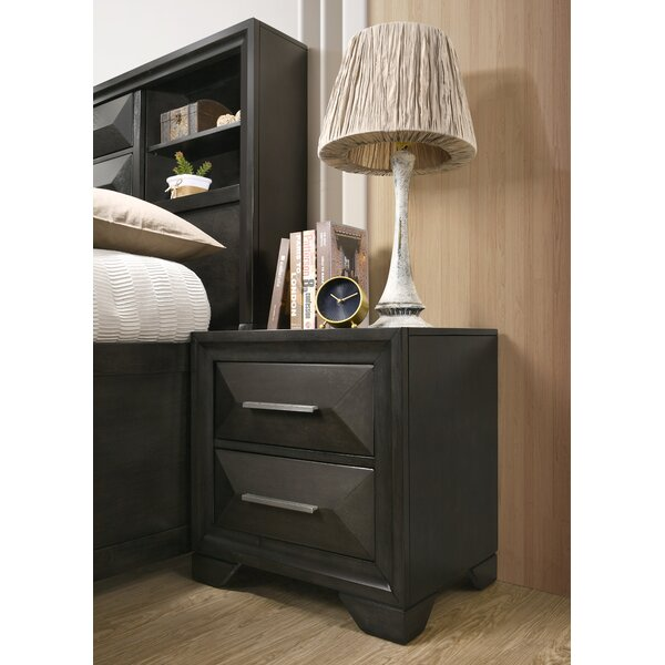 Gillispie 2 Drawer Nightstand by Latitude Run