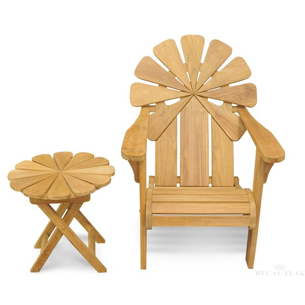 Veun Petals Adirondack Chair with Table (Set of 2) by Bay Isle Home Bay Isle Home