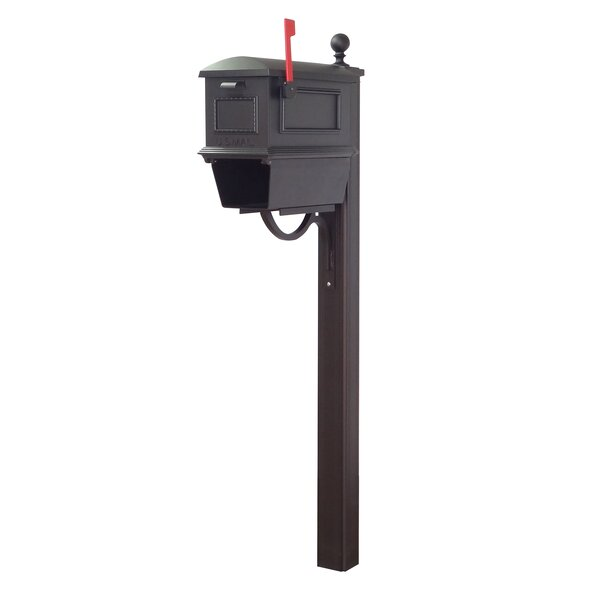 Traditional Curbside Mailbox with Main Street Post Included by Special Lite Products
