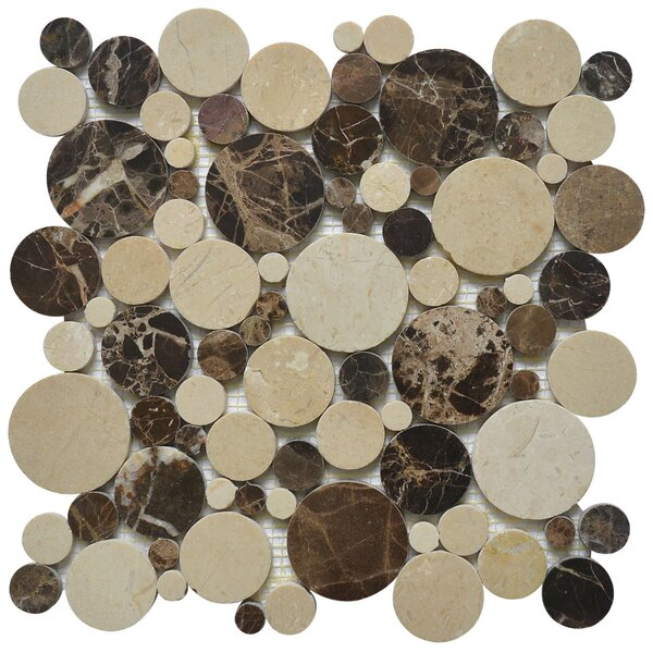 Bolle Emperador Random Sized Marble Mosaic Tile in Dark by Matrix Stone USA