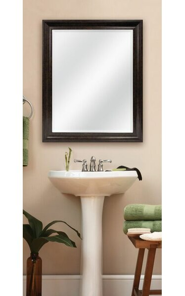 Bella Bronze Beveled Wall Mirror by MCS Industries