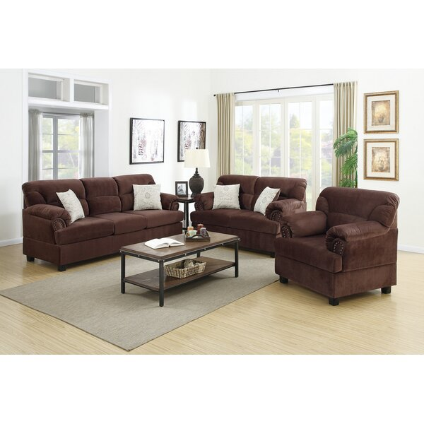 Ferrara 3 Piece Living Room Set by Red Barrel Studio