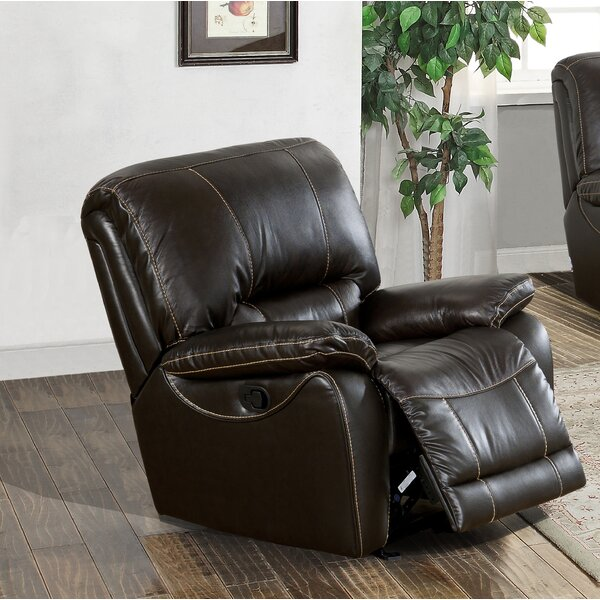 Womble Leather Power Recliner by Latitude Run