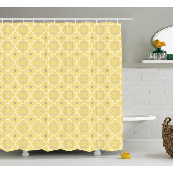 Baudoin Pattern with Moroccan Print Shower Curtain by Latitude Run