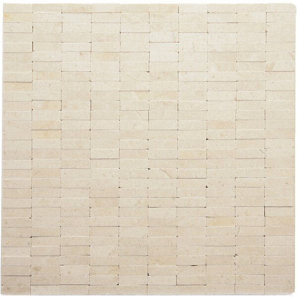 Post Modern Marble Mosaic Tile in Mondrian by Solistone