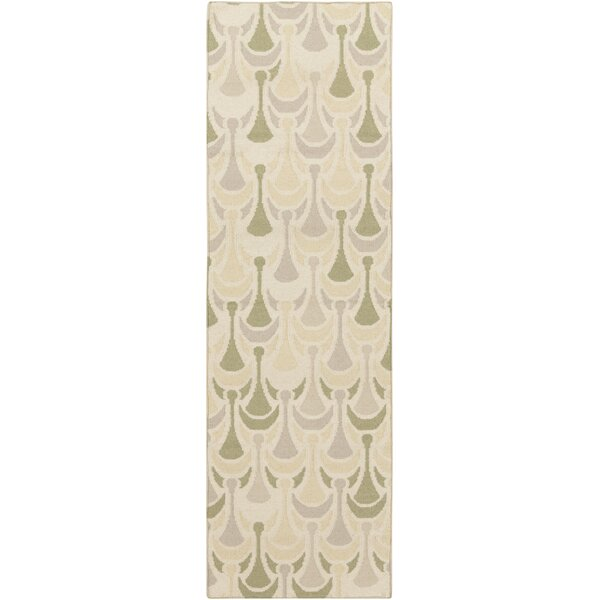 Voyages Olive Geometric Area Rug by Malene b