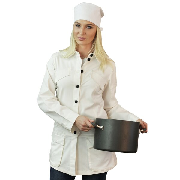 Stylized Long Sleeve Chef Coat Apron by ASD Living