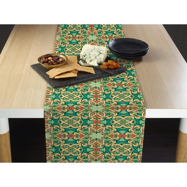 Winebrenner Medallion Weave Milliken Signature Table Runner by Bloomsbury Market