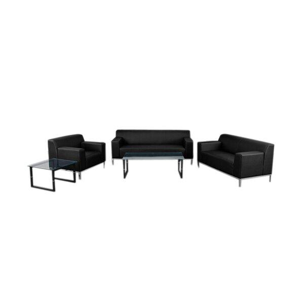 Maven Reception 3 Piece Leather Living Room Set by Latitude Run