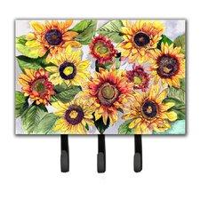 Sunflowers Leash Holder and Key Hook by Caroline's Treasures