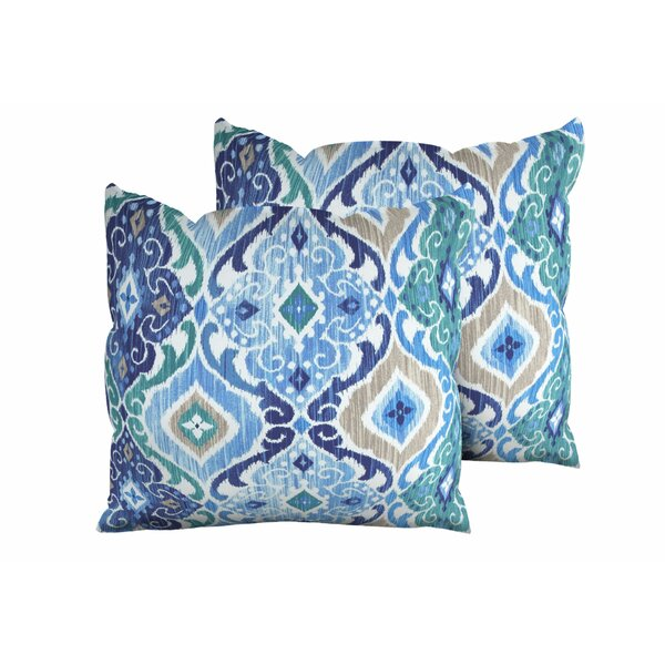 Cobalt Outdoor Throw Pillow (Set of 2) by TK Classics
