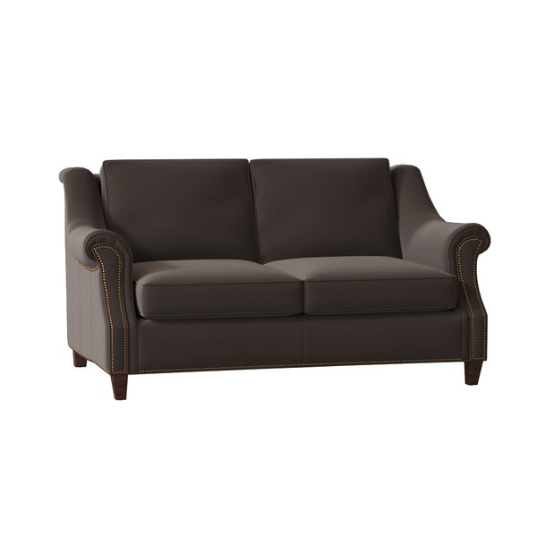Reinsman Leather Loveseat By Bradington-Young