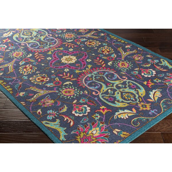 Emmie Blue Area Rug by Bungalow Rose