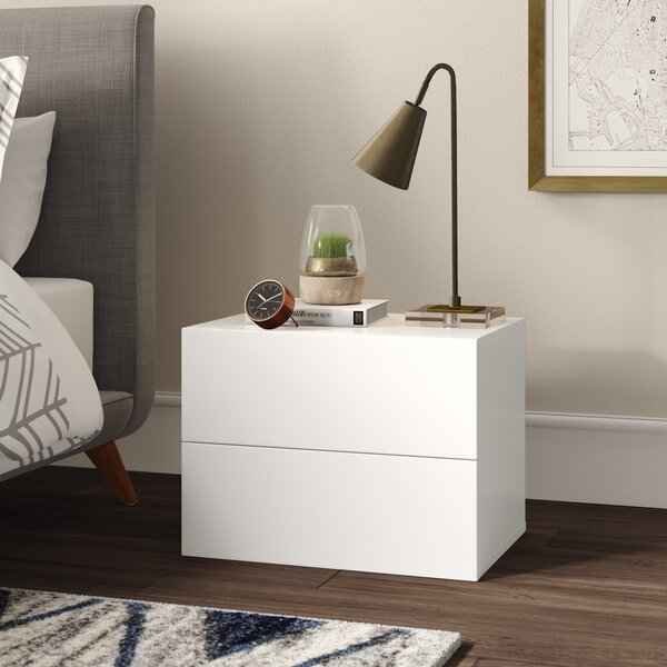 Karratha 2 Drawer Nightstand by Mercury Row
