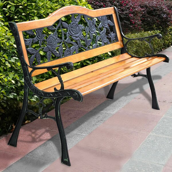 Harwell Patio Park Path Aluminum Garden Bench by Fleur De Lis Living