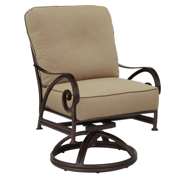 Lucerne Swivel Rocking Chair with Cushion by Leona