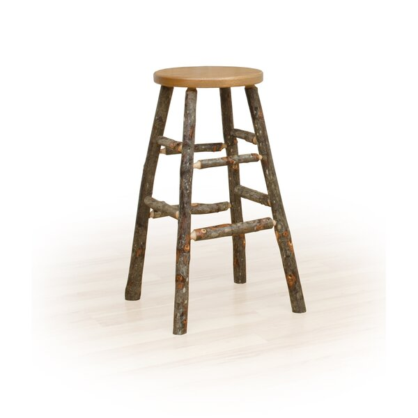Tomaso Hickor Bar & Counter Stool by Millwood Pines Millwood Pines