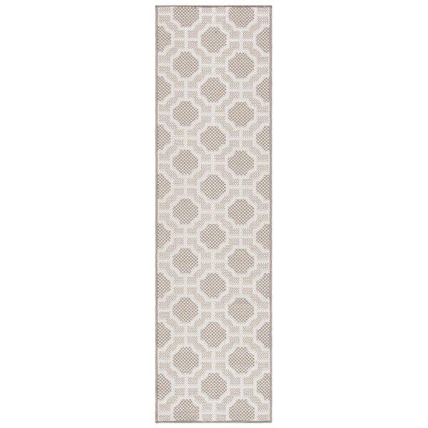 Oppelo Geometric Beige/Taupe Indoor / Outdoor Area Rug