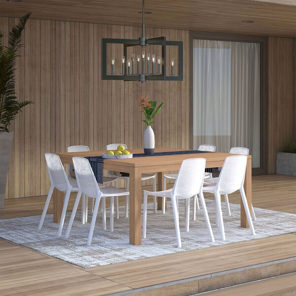 Claudio 9 Piece Teak Dining Set by Mercury Row