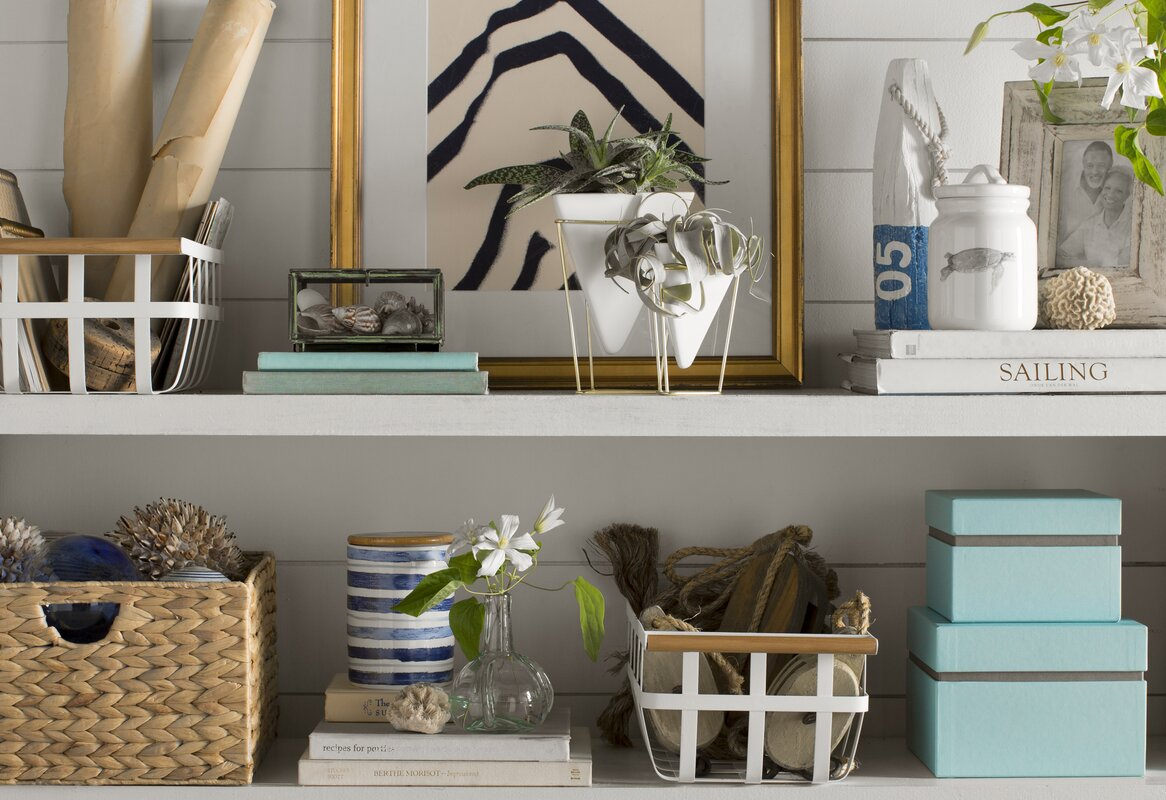 Wayfair Basics Woven Hyacinth Storage Basket Set