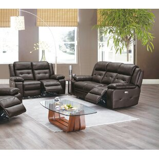 Nan 2 Piece Leather Match Reclining Living Room Set by Red Barrel Studio®