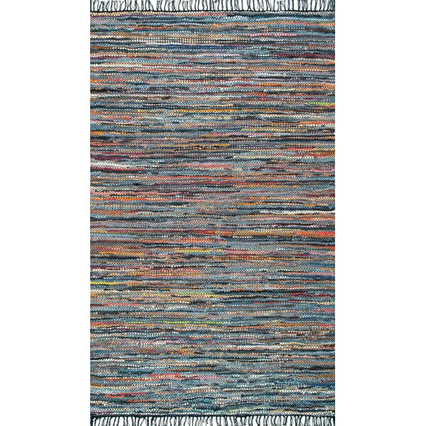 Sergio Hand-Woven Blue/Orange Area Rug by Ivy Bronx