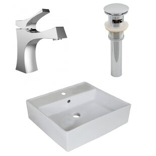 Top Reviews Ceramic Square Undermount Bathroom Sink with Faucet and Overflow ByRoyal Purple Bath Kitchen