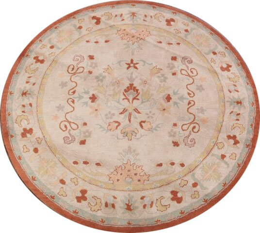 Cherrywood Agra Oriental Hand-Tufted Wool Beige/Red Area Rug by Bloomsbury Market