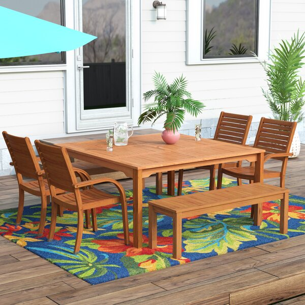 Elsmere 7 Piece Dining Set by Beachcrest Home