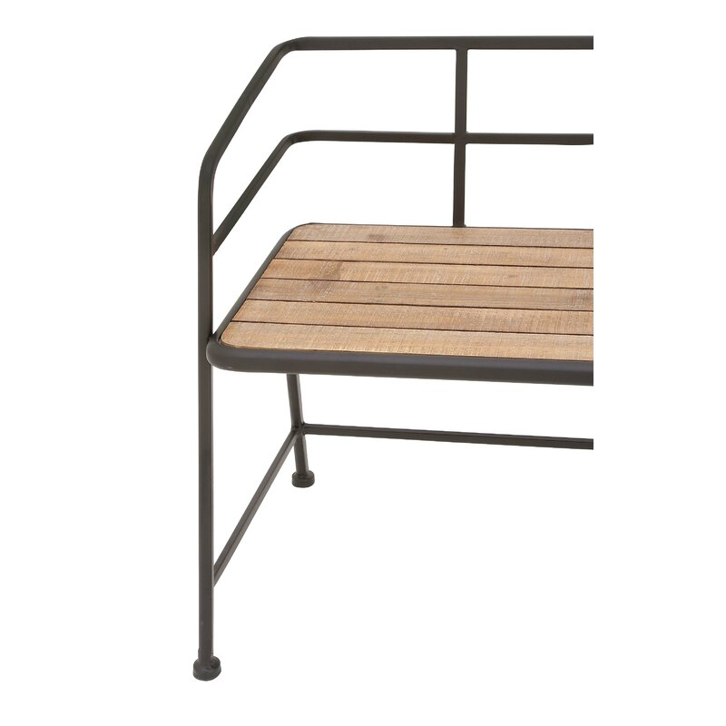 Idell Metal and Wood Bench & Reviews   AllModern