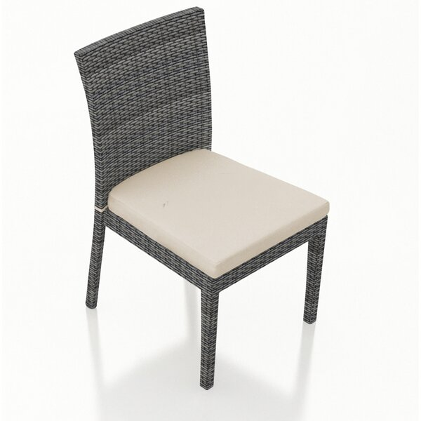 Hobbs Patio Dining Chair with Cushion by Rosecliff Heights Rosecliff Heights