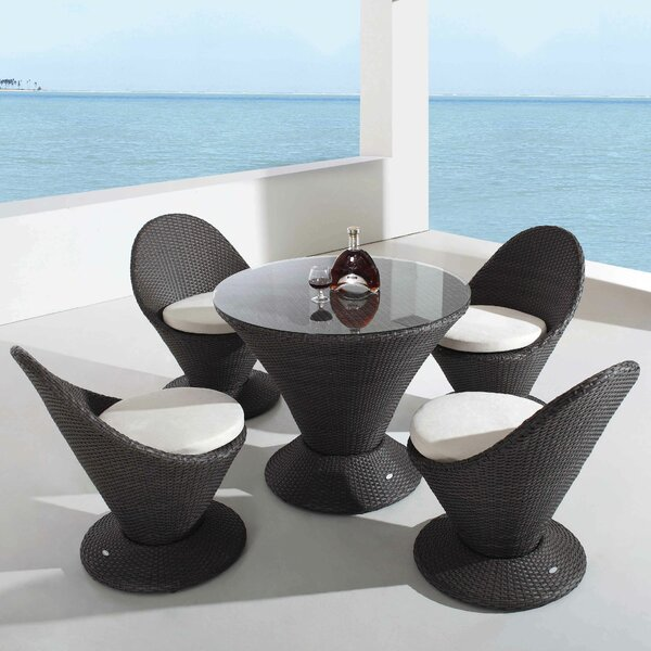Sisneros Martini with Cushions 5 Piece Dining Set by Brayden Studio
