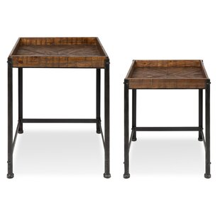Inexpensive Malachy Rustic-Modern Side Accent 2 Piece Nesting Tables By 17 Stories