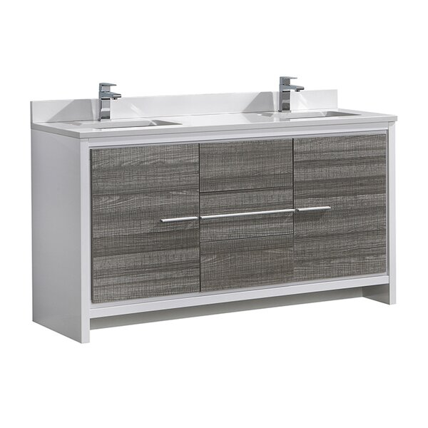 Trieste Allier Rio 60 Double Bathroom Vanity Set by Fresca